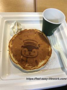 サンシャイン限定のカワウソパンケーキ